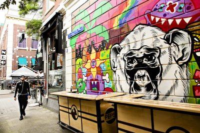 Street art Rotterdam Witte de with DMC Incentive